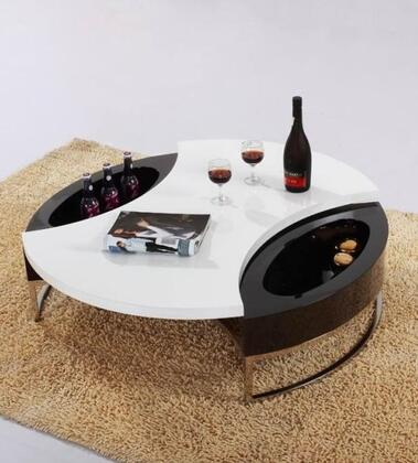 VIG Furniture VGCJM037 White/Black Modern Table
