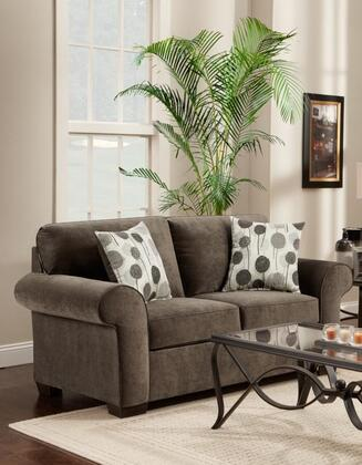 Chelsea Home Furniture 195302EA Worcester Series Polyester Stationary with Wood Frame Loveseat