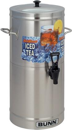 Bunn-O-Matic 3300000 Cylinder Style Iced Tea and Coffee Dispenser with Side Handles, Full-Color Iced Tea Decal and Sump Dispense Valve, in Stainless Steel