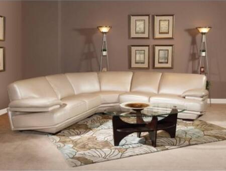 Novo Home 10183PC Capri Series Stationary Leather Sofa