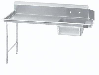 Straight Soil Right Dish Table
