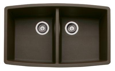 Blanco 4400T Performa Equal Double Bowl Anthracite Silgranit Undermount Kitchen Sink