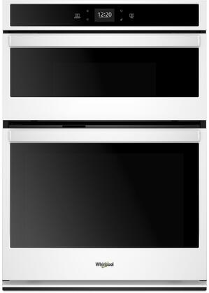 Whirlpool Woc54ec7hw 27 Inch White Electric Double Wall Oven Microwave Combo