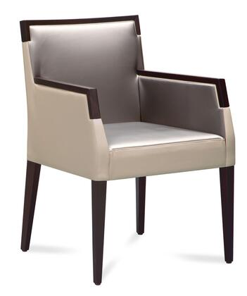 Domitalia ARIELPIK0WESD2 Ariel Series Contemporary Polyurethane Blend Wood Frame Dining Room Chair