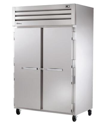True STA2F Spec Series Two-Section Reach-In Freezer with 56 Cu. Ft. Capacity, R404A Refrigerant, LED Lighting, and Solid Swing-Doors