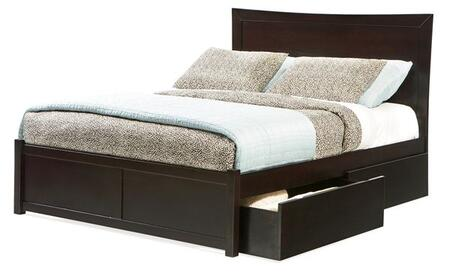 Atlantic Furniture MIAMIFPFFULLES Miami Series  Full Size Bed