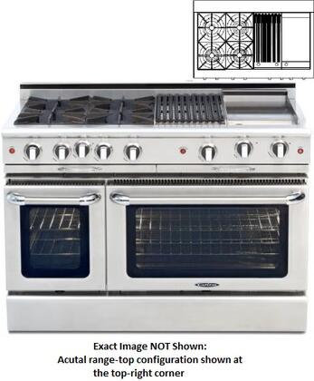 "Capital CGMR484BGN 48"" Culinarian Series Natural Gas Freestanding"