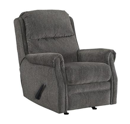 "Signature Design by Ashley Earles Collection 6430X-25 31"" Rocker Recliner with Rolled Arms, Textural Woven Fabric Upholstery and Stitching Detail in"