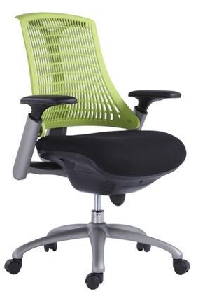 VIG Furniture VGFCINNOVATION Modrest Innovation Office Chair with Black Armrests, Adjustable Height, Swivel Base and Casters in