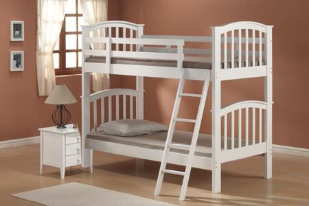 Acme Furniture 02321 San Marino Series  Twin/Twin Size Bunk Bed