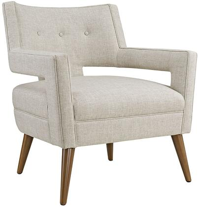 Modway EEI2142SAN Sheer Series Polyester Armchair with Wood Frame in Sand