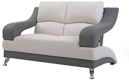 Glory Furniture G244L G200 Series Faux Leather Stationary with Metal Frame Loveseat