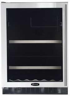 "AGA APRO6BARMBLKL 23.88"" Built-In Wine Cooler, in Black"