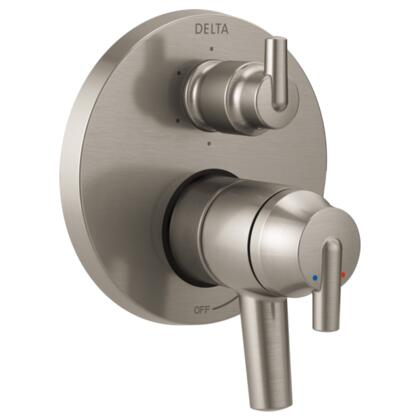 Trinsic T27959-SS Delta Trinsic: Contemporary Monitor 17 Series Valve Trim with 6-Setting Integrated Diverter in Stainless
