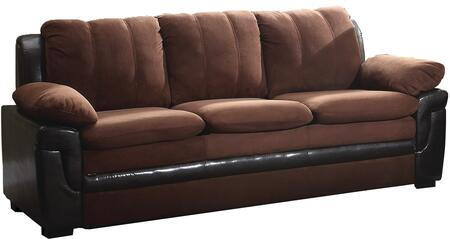 "Glory Furniture 80"" Sofa with Removable Backs, Wood Frame, Faux Leather and Microfiber Upholstery in"