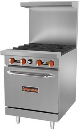 Sierra SRx Burner Range with Oven with BTU Burner, BTU Oven, Top Burners, in Stainless Steel