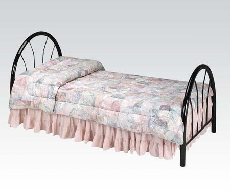 Acme Furniture 02054 Silhouette Twin Size Headboard and Footboard with Arc Shape, Curved Spindles and Metal Frame in