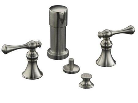 Kohler K-16132-4A- Revival Bidet Faucet with Vertical Spray and Traditional Lever Handles: