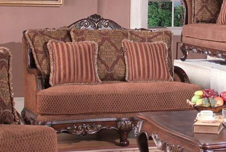 Meridian 615L Fabric  with Wood Frame Loveseat