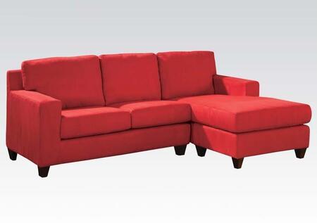 Acme Furniture 05917A Vogue Series Stationary Microfiber Sofa