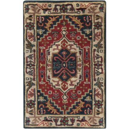 Surya A134 Ancient Treasures Ink Handmade Area Rug Made with 100% Semi-Worsted New Zealand Wool and Made in India