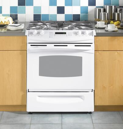 GE PGS975DEPWW  Slide-in Gas Range with Sealed Burner Cooktop Storage 4.1 cu. ft. Primary Oven Capacity