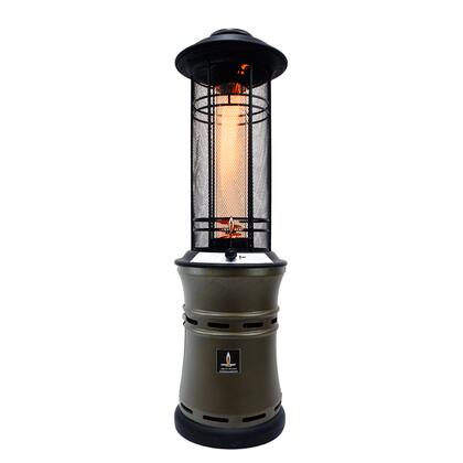 Lava Heat EMBER Ember Liquid Propane Outdoor Heater With 51000 BTU, All Steel Construction, Protective Outer Grill, Easy Start Electronic Igniter, Collapsible Design, Spiral Flame & In
