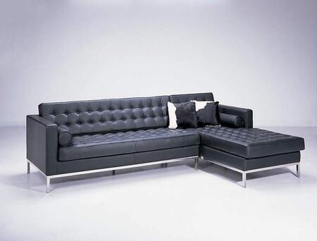 VIG Furniture F14  Sofa and Chaise Leather Sofa