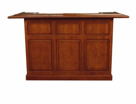 "American Heritage Lexington Series 600011XX 72"" Home Bar With Open Shelves and Removable Ice Storage and Bottle Wells"