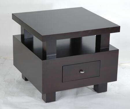 Allan Copley Designs 320102 Lexington Series Contemporary Rectangular 1 Drawers End Table