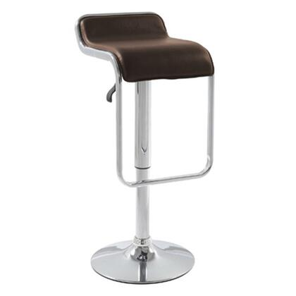 Fine Mod Imports FMI2124BROWN Commercial or Residential Leatherette Upholstered Bar Stool