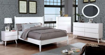 Furniture of America CM7386WHTBEDSET Lennart Twin Bedroom Se