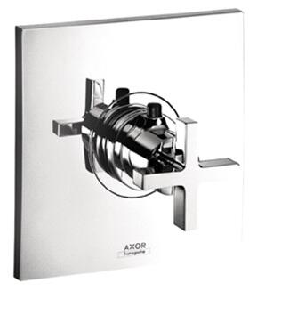 Axor 39716 Axor Citterio Thermostatic Valve Trim Only with Metal Cross Handle: