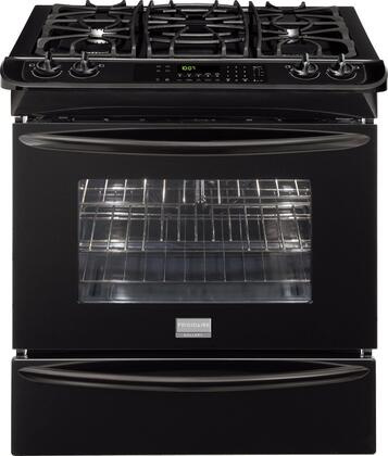 "Frigidaire FGGS3065KB 30"" Gallery Series Slide-in Gas Range with Sealed Burner Cooktop Warming 4.2 cu. ft. Primary Oven Capacity"