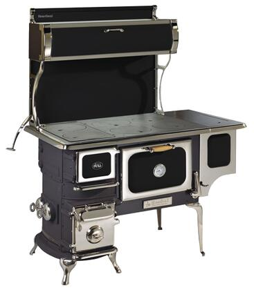 "Heartland 1902-000- 42"" Oval Woodburning Cookstove, Non-Reservoir, 2.4 cu. ft. Oven Capacity, 50,000 BTU/hr Heat Output, Solid Cast Iron Cooking Surface:"