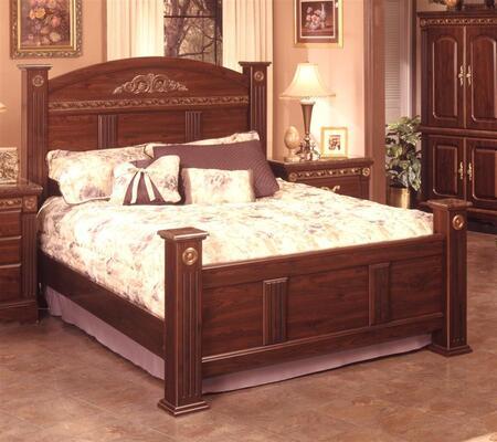 Sandberg 174H Renaissance Marble Series  California King Size Panel Bed