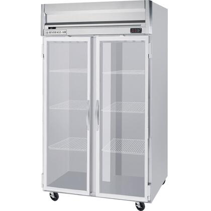 Beverage-Air HRPS2-1 Horizon Series Two Section [Solid Door] Reach-In Refrigerator, 49 cu.ft. capacity, Stainless Steel Exterior and Interior