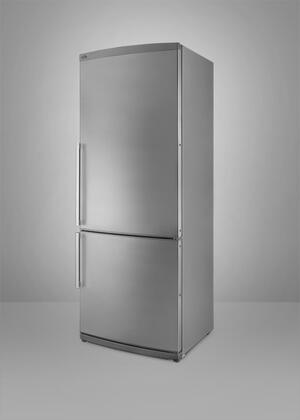 Summit FFBF285SSIM  Counter Depth Bottom Freezer Refrigerator with 13.81 cu. ft. Total Capacity 4 Glass Shelves