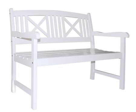 Vifah V1353 Picnic Wood Frame Armed Patio Benches