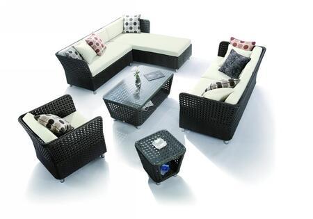 VIG Furniture VGHTH0808 Modern Rectangular Shape Patio Sets