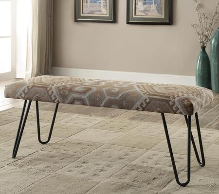 Coaster 500783 Benches Series Accent Armless Metal Fabric Bench
