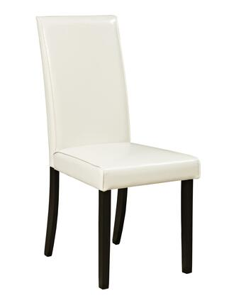 "Signature Design by Ashley Kimonte D250-0X 18"" Dining Side Chair with Faux Leather Upholstery, Tapered Legs and Cushioned Seat in"