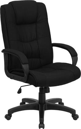 "Flash Furniture GO-5301B-XX-GG 18.5"" High Back Fabric Executive Office Chair with Thickly Padded Seat and Back, Tilt Tension Control Knob, Pneumatic Seat Height Adjustment, and Dual Wheel Casters"
