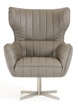 """VIG Furniture VGKKA963 Divani Casa 30"""" Kylie Accent Chair with Wing Back, Metal Base and Eco-Leather Upholstery in"""