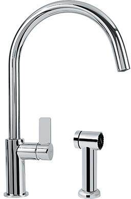 Franke FFS31 Ambient Series Kitchen Faucet with Arc Spout and Side Spray in