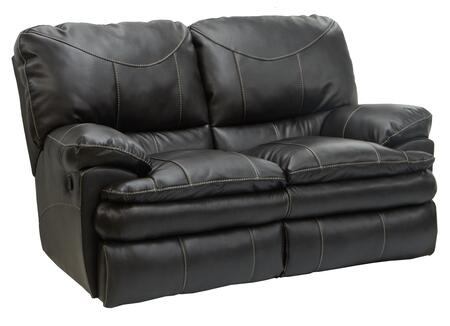 """Catnapper Perez Collection 4142- 62"""" Reclining Loveseat with Bonded Leather Upholstery, Luggage Stitching and Pub Back Design in"""