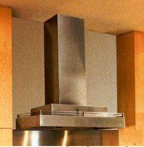 "Vent-A-Hood Contemporary Series CWLH9000SS XX"" Chimney Style Wall Mount Range Hood With XX CFM Internal Blower, Halogen Lighting, Galley Rail, Magic Lung Filter-Less, SensaSource, In Stainless Steel"