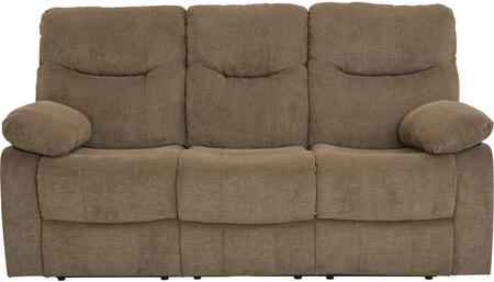 """Standard Furniture Dinero Collection 4219SOFA 77"""" Reclining Sofa with Fabric Upholstery, Pillow Top Armrests, Padded Seat and Back Cushions in"""