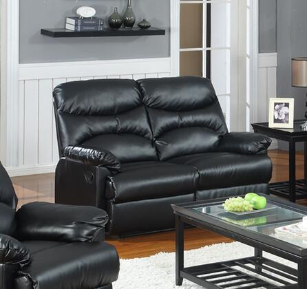 Myco Furniture Ge311lbk Geneva Series Bonded Leather Reclining With