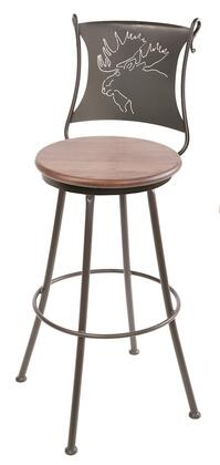 Stone County Ironworks 904001FAUXEMS Bull Moose Series  Bar Stool